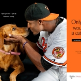 Baltimore Oriole Adam Jones & Missy poster