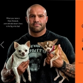MMA fighter Dave Daniecki with Bentley and Portia
