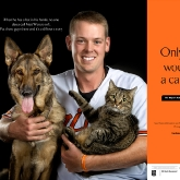 Baltimore Oriole catcher Matt Wieters & Millie & Omaha poster