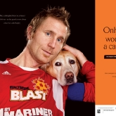 Baltimore Blast Mike Lookingland & Ralphy poster
