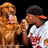 Baltimore Oriole Adam Jones & Missy