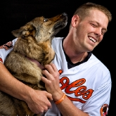 Baltimore Oriole catcher Matt Wieters & Millie