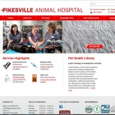 Pikesville Animan Hospital home page